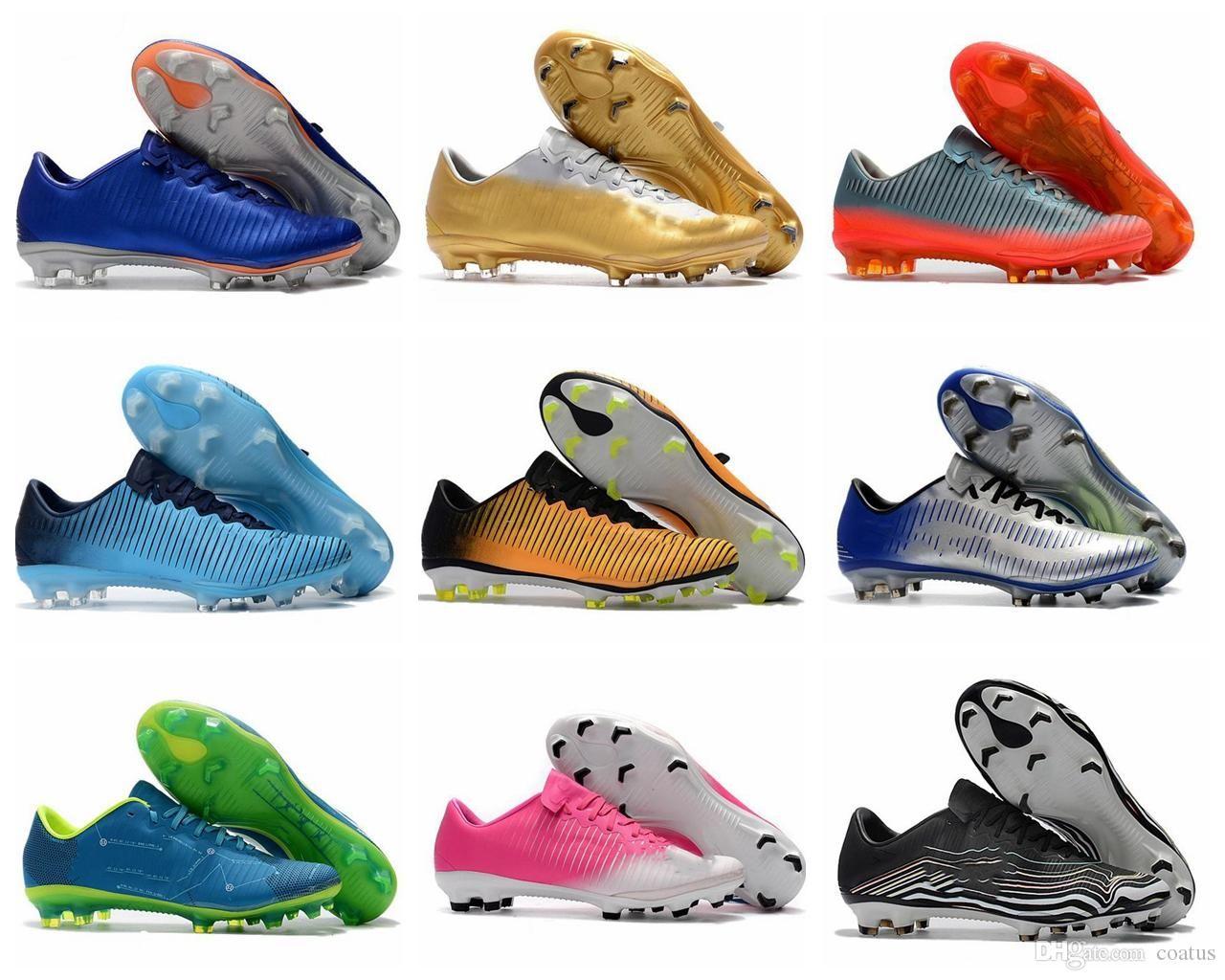 2019 качества футбольных бутс Mercurial VaporX XI Botas де Futbol Низкого Mercurial MENS футбол shoe01 дешевые бутсы 39-45