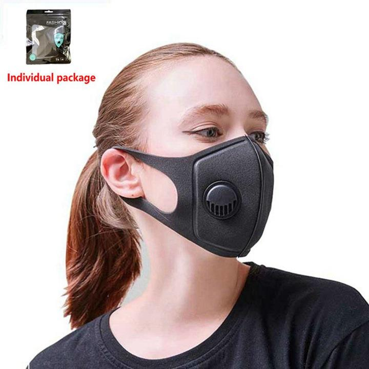Многоразовый дыхательный клапан Маски Антиаллергический РМ2,5 Рот маска Бытовая Защитные продукты Anti-Dust Анти загрязнение маски 300pcs