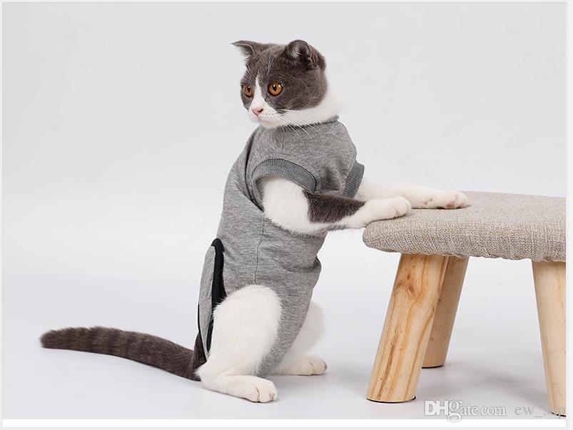 animal usine de récupération de chat Vêtements après la chirurgie Pet Wound Lèche stérilisation Vêtements Coton intime Vêtements de stabilité