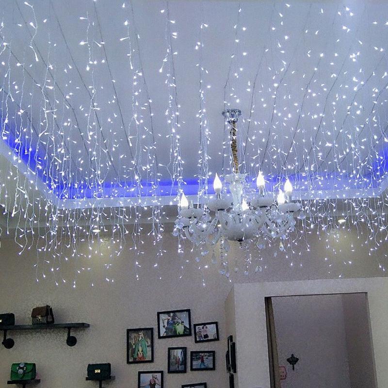 4 * 0.6M Plug In Şerit LED Işık Pencere Noel Dekorasyon Yılbaşı Tatili Düğün Ev Dekorasyon Peri Işıklar YHzr #