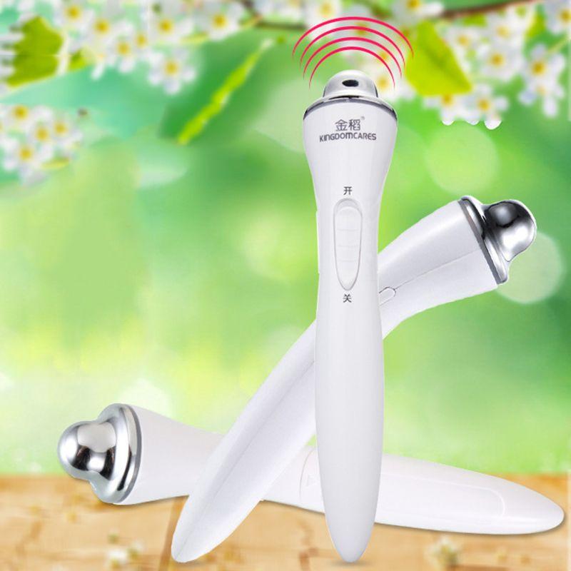 El masaje del cuidado anti arrugas cara Retire Inicio Ojos instrumento de belleza ojos arrugas patas de gallo vibración electrónica de la pluma de belleza