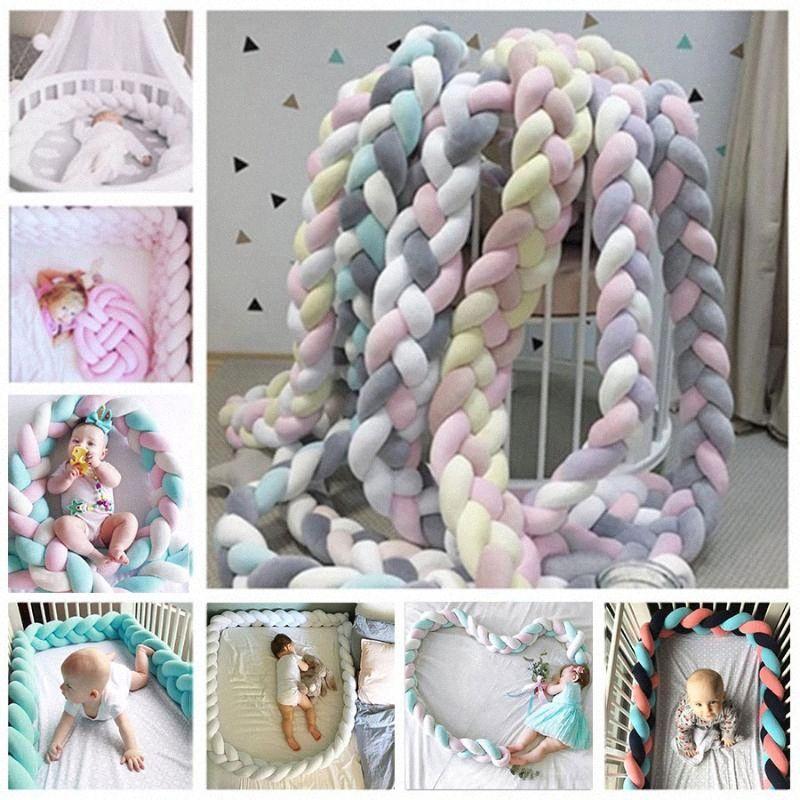 Bunte Neugeborene Auto Bequeme Kinderbett Schutz Lange geknotete Braid Kissen Baby-Bett Auto in der Krippe Baby-Zimmer Leyf #