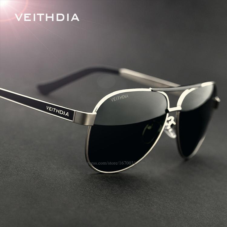 VEITHDIA neuf de haute qualité Hommes Lunettes de soleil Homme Marque polarisants design Driving Lunettes de soleil Lunettes Eyewears Accessoires 3152
