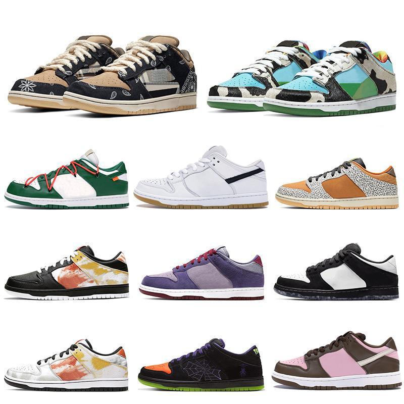 Spor Ayakkabı Chunky Dunky beyaz çimento Sneakers Çam Yeşil Kaykay Eğitmenler Running Dunk Travis Scotts SB Düşük Pro Erkek kadın