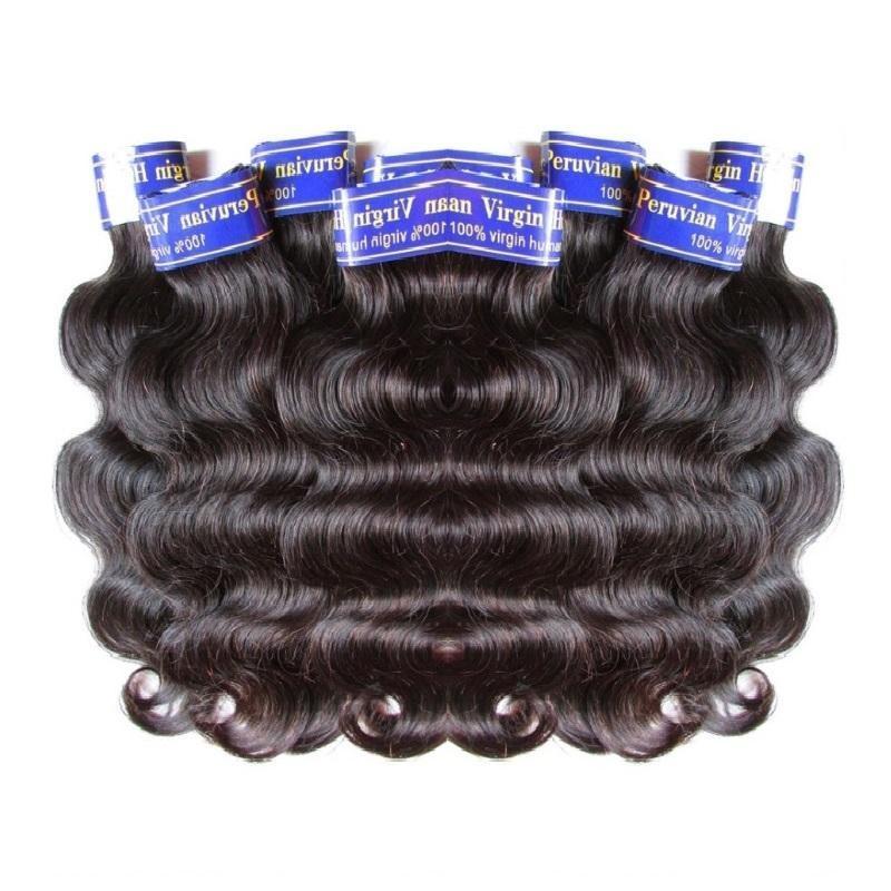 saç fabrika temizleme toptan ucuz Perulu insan saçı uzantıları örgü vücut dalganın 1kg 20pieces demetleri çok doğal renk 50g / adet