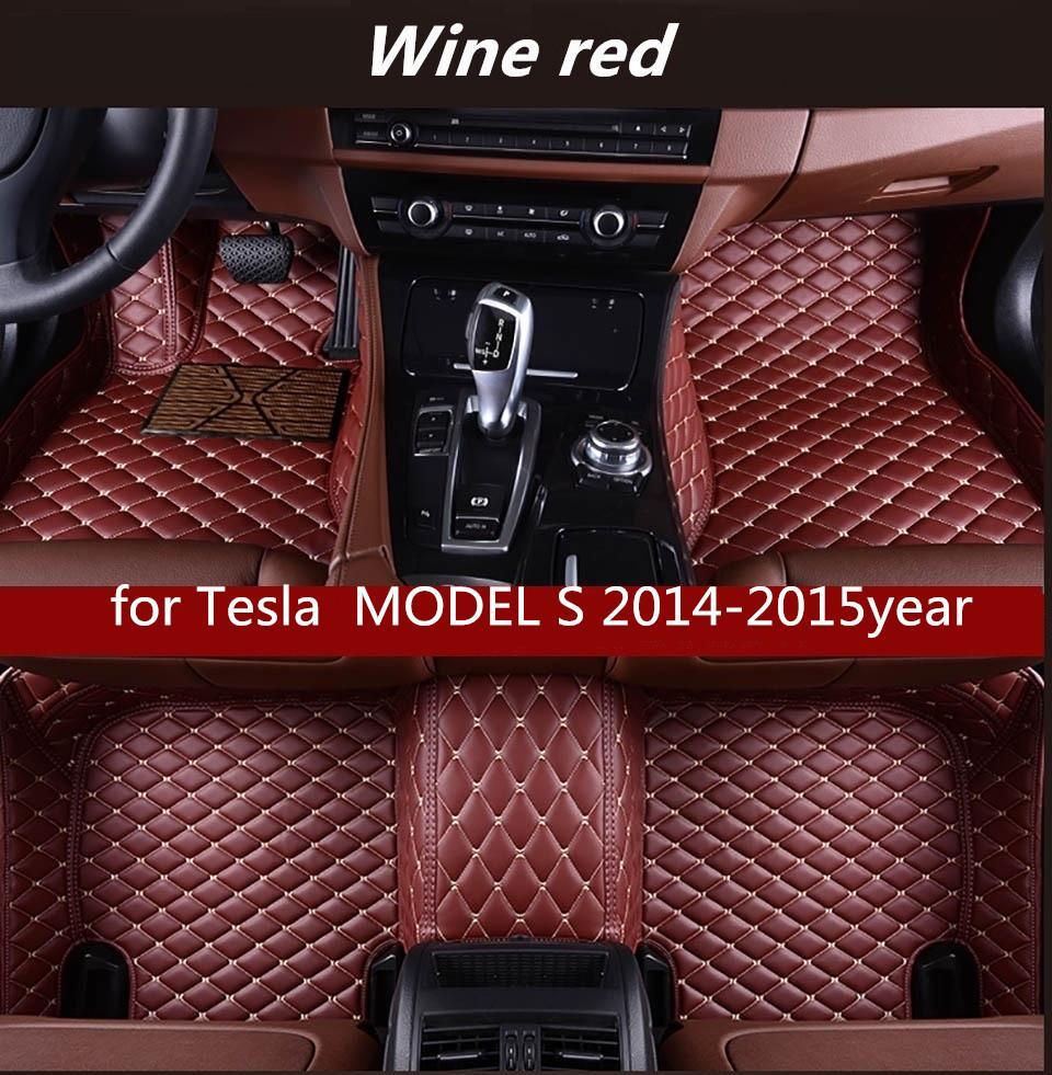 Tesla MODEL S 2014-2015year Kaymaz toksik olmayan paspas araba paspas için