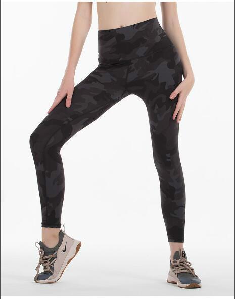 meilleures ventes NOUVEAU LU-20 pantalons de yoga solide Couleur femmes taille haute Vêtements de sport Gym Fitness Lady Leggings élastique ensemble complet Collants Workout