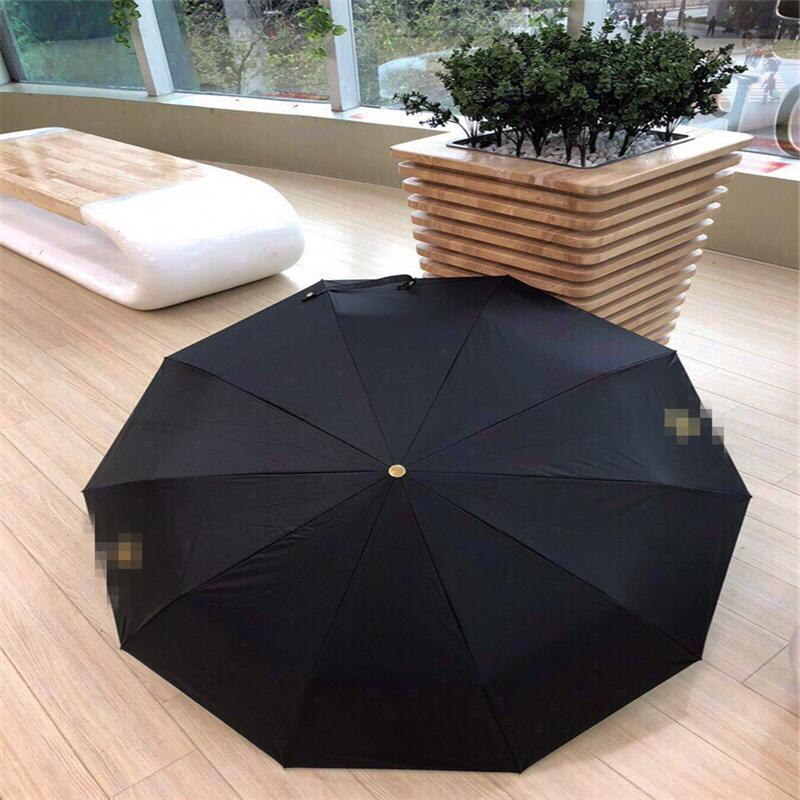 Fashion Black Umbrellas Unisex Sunny & Rainy Umbrella Stand Exquisite Umbrellas Outdoor UV Protection Sunshade Parasol