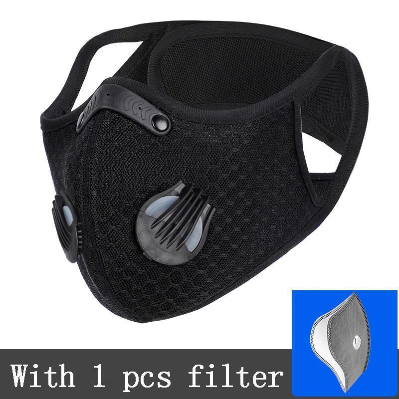 US Lager, Radfahren Gesichtsmasken Staubdichtes Haze fest atmungsaktiv Sonnenschutzmittel Maske Männer und Frauen Outdoor Sports Supplies mit Filter