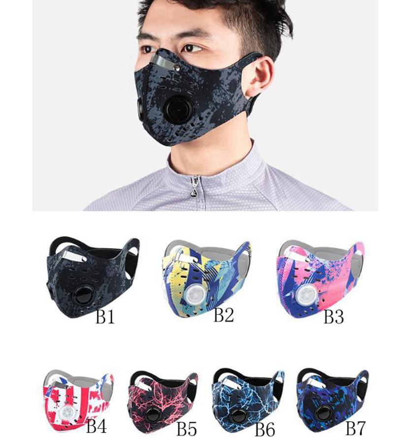 14styles Велоспорт Face Mask Спорт Открытый Обучение Маски РМ2,5 Противопыльный ветрозащитный Рот Крышка Угольный фильтр Моющийся маска GGA3567-1
