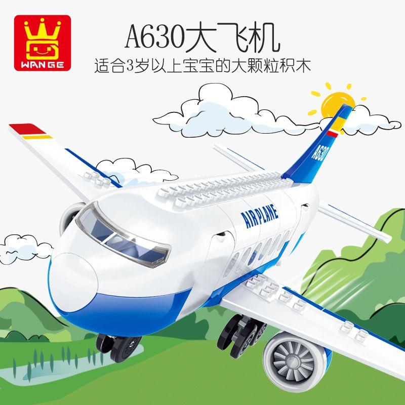 çocuk hediye 12 için büyük uçak yapı taşı modeli montaj oyuncak