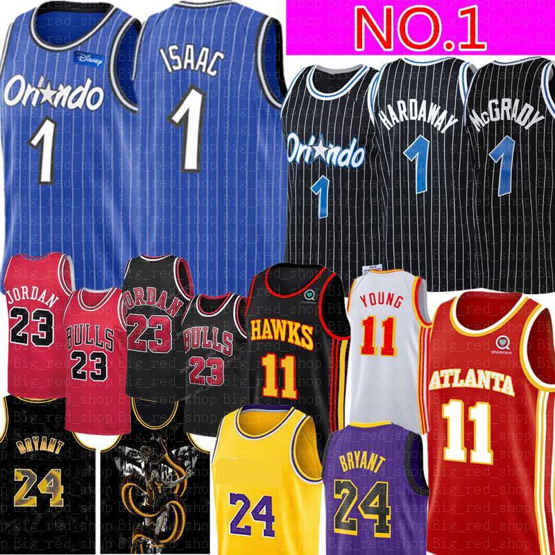 NCAA جوناثان # 1 إسحاق جيرسي 11 يونغ مايكل بالقميص كلية ريترو شبكة Anfernee 1 هارداواي بيني هارداواي # مكجرادي إسحاق كرة السلة