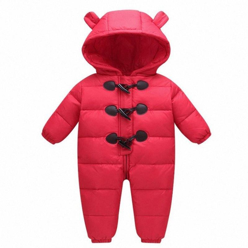 -30 gradi russo ragazze di inverno tuta piumino 90% Bianco anatra Down Boy impermeabile Snowsuit lPkr #