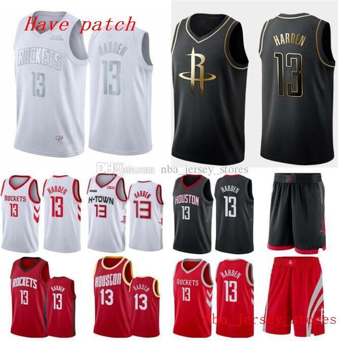 Men\'s Basketball Houston Rocketsn 13 James Harden Red white