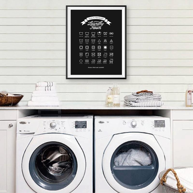 2020 Laundry Room Decor Laundry Guide To Procedures Prints Wall Art Poster Laundry Symbols Sign Modern Canvas Painting Decorations From Zhu793737893 6 69 Dhgate Com