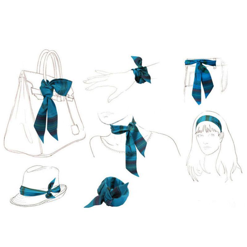 Hand Bag Handle Scarves Painter Van Gogh Picasso Monet Painting Women Small Silk Scarf kerchief Ribbon Neckerchief Print Hat Scarves & Wraps