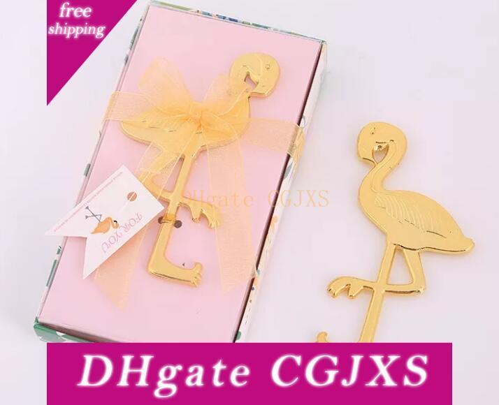 Livre Express para seu pequeno presente presente de casamento garrafa de ouro flamingo presente de casamento ao domicílio Europeia abridor criativa flamingo abridor de garrafas