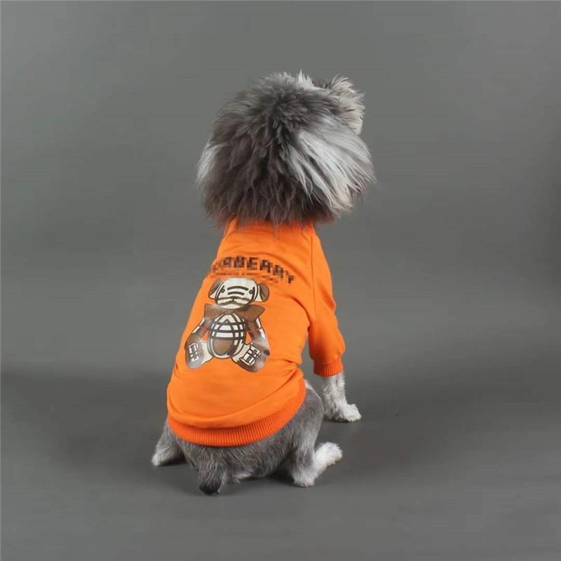 Lovely Bear Puppy Apparel Classic Letter Dog Shirt Comfortable Cotton Dog Clothing Teddy Shirts Casual Outdoor Pet T-Shirt