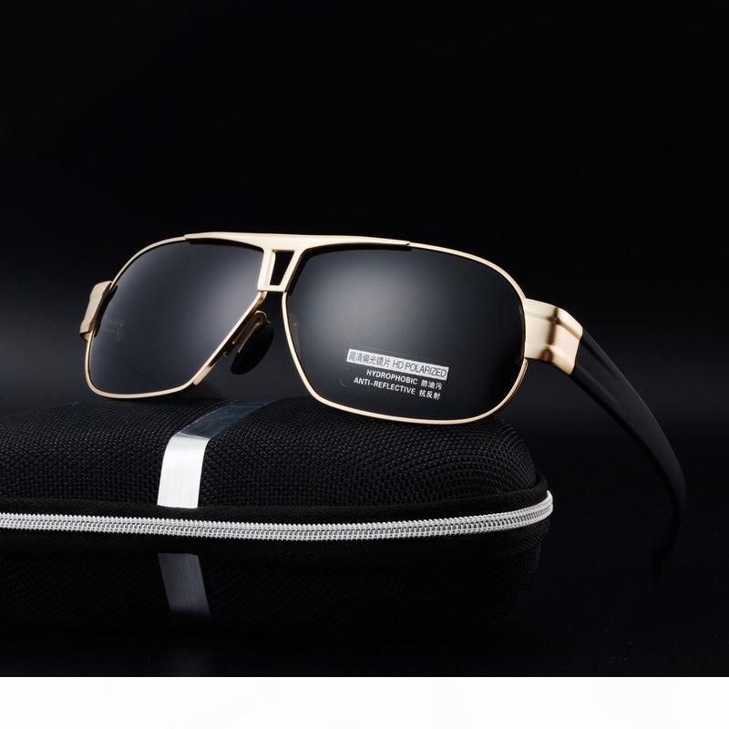 gros 2018 New soleil Polarized lunettes de soleil concepteur de marque HD millésime de haute qualité lunettes lunettes de cadre métallique Gafas de sol hombre