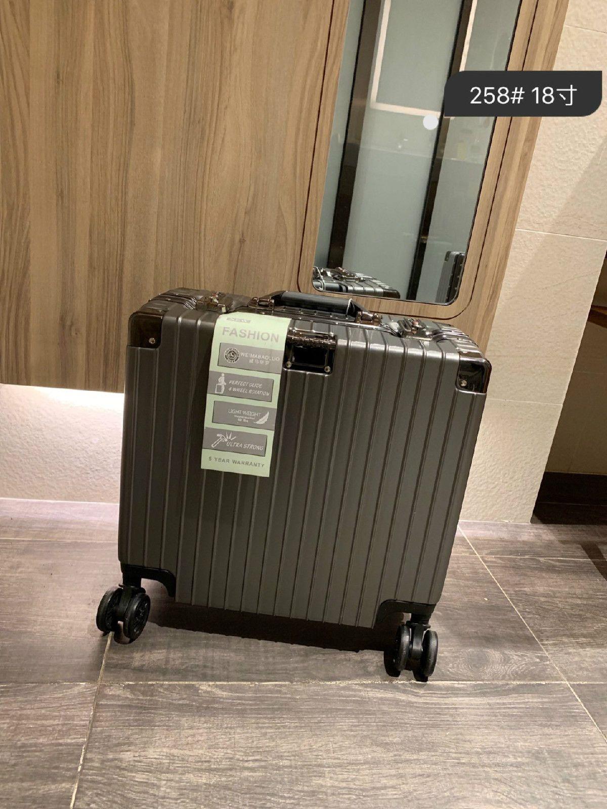 Koffer Hochwertige PC Anti-Verschleiß Material TSA Zollschloß verdickten Aluminiumlegierung Koffer Winkel große Kapazität Koffer Aviation boxe
