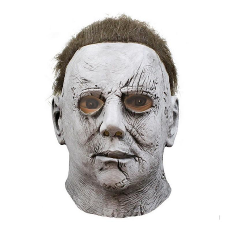 Halloween Movie Moonlight Palpitation Panic Major Mask COS Mike Mel Ghost Latex Head Band Horror Mask Party Decoration