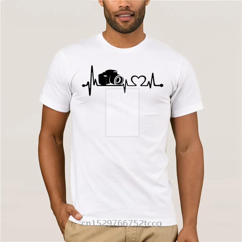 Спорт мужской футболки смешной фотограф сердцебиения фото 2020 Мужчины с коротким рукавом Летний хип-хоп футболки для мужчин