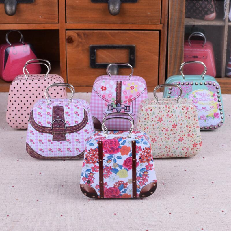 Gioielli Zakka Wedding Gift Candy Boxes contenitore mini borsa di latta casa organizzatore del cavo Storage Box LX2590