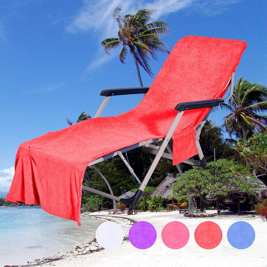 마이크로 화이버 일광욕 안락은 210 * 73cm 의자 비치 타월 휴일 레저 가든 비치 타월 바다 배송 OOA4702 메이트 안락을 침대