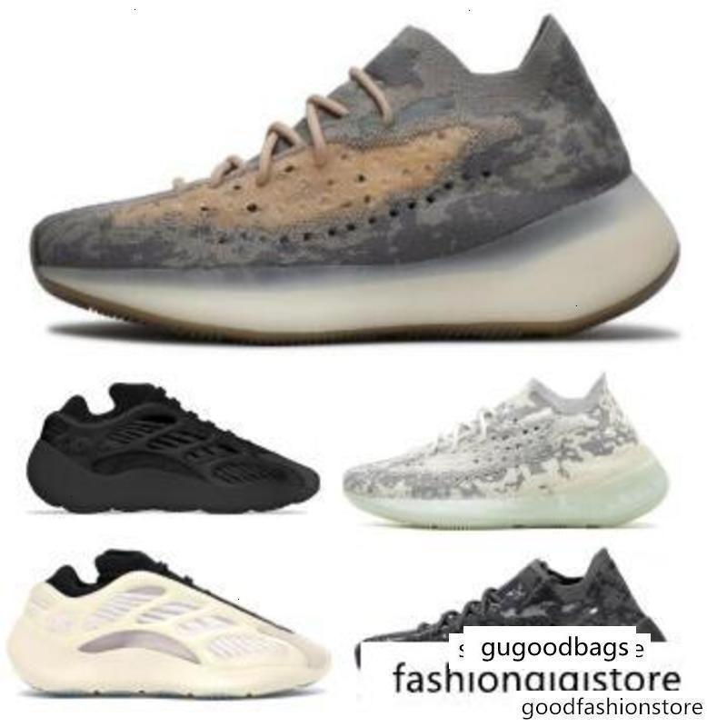 Hot 380 700 V3 Azael Alvah Alien Mist Kanye West Reflective Brown Mens Women Wave Runner 2020 New Designer Trainers Running Sneakers Shoes