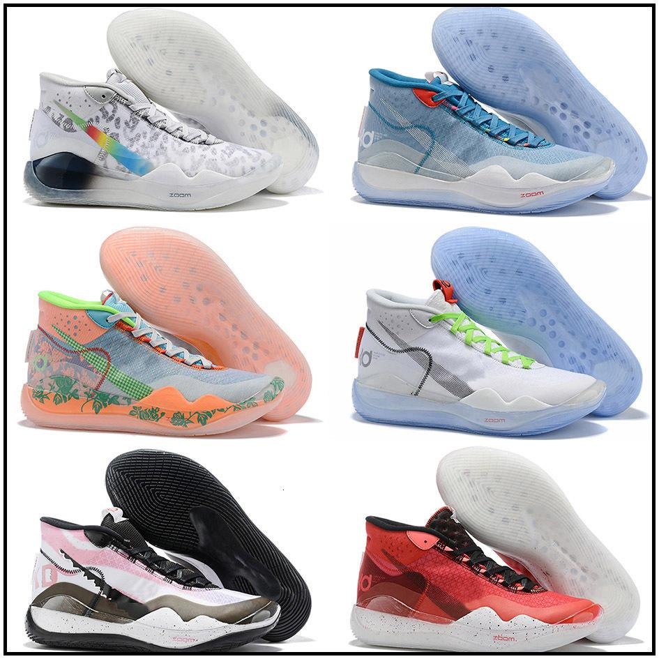 2020 zapatos nuevos muchachos de los niños Kevin Durant KD 12 12S KD12 XII formadores de zoom niñas jóvenes Mujeres Baloncesto X Elite Sport zapatillas de deporte Mediados