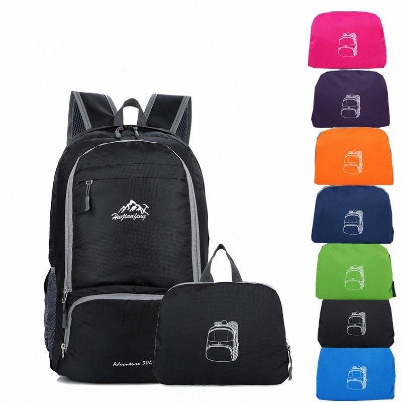 HWJIANFENG Sport pieghevole zaino 30L Hwjianfeng 525 Portable sacchetto di nylon esterno funzionare escursionismo escursioni in bicicletta Zaino ynar #