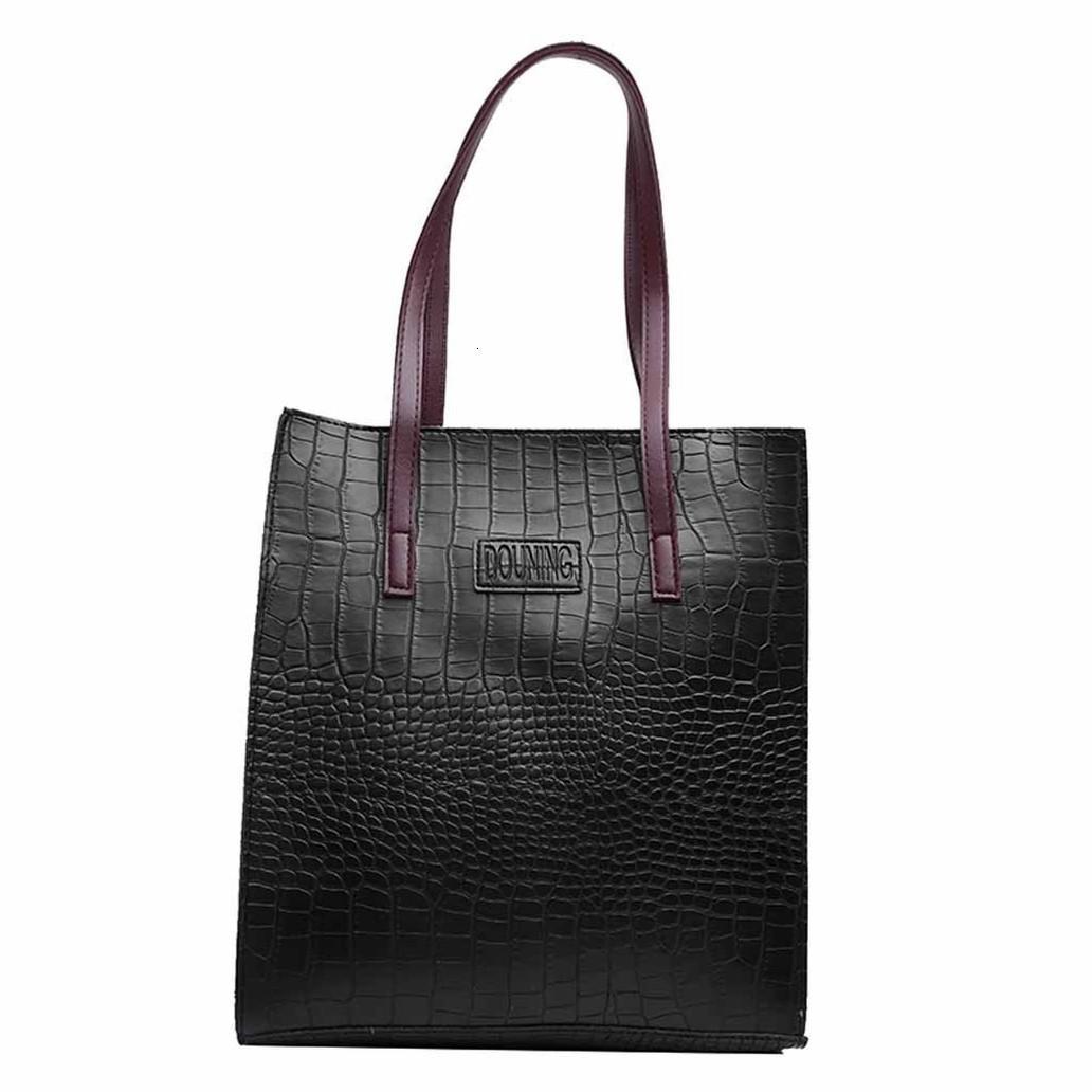 Женщины сумки кожи женские Сумки Мода Крокодил Pattern сумки Женские сумки конструктора Zipper Засов Большой сумка для женщин 2020