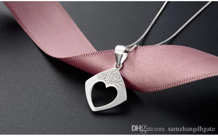 Mixed order top quality women's S925 sterling silver CZ pendants for necklaces silver CZ necklace silver pendant costume jewelry DDS129