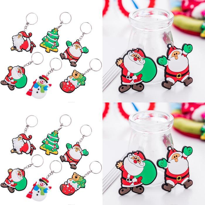 New version of the cartoon cute Santa Claus keychain Men and women Christmas gift pendant couple key ring ornaments qqds rQfYg