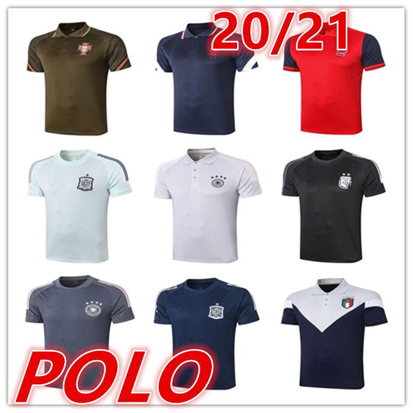 2020 2021 New Spanien Herren T-shirts Polo Fussball Jersey 20 21 Männer Fußball Polo Fußball Uniformen Sport Hemd Polo shirts Fußballtrikots