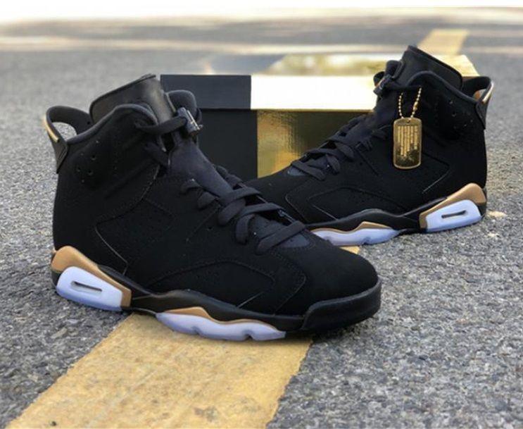 Spor ayakkabı boyutu açık 2020 Çıkış 6 DMP 6S Siyah Metalik Altın 23 Retro erkekler Basketbol CT4954-007 en kaliteli 7 ~ 13