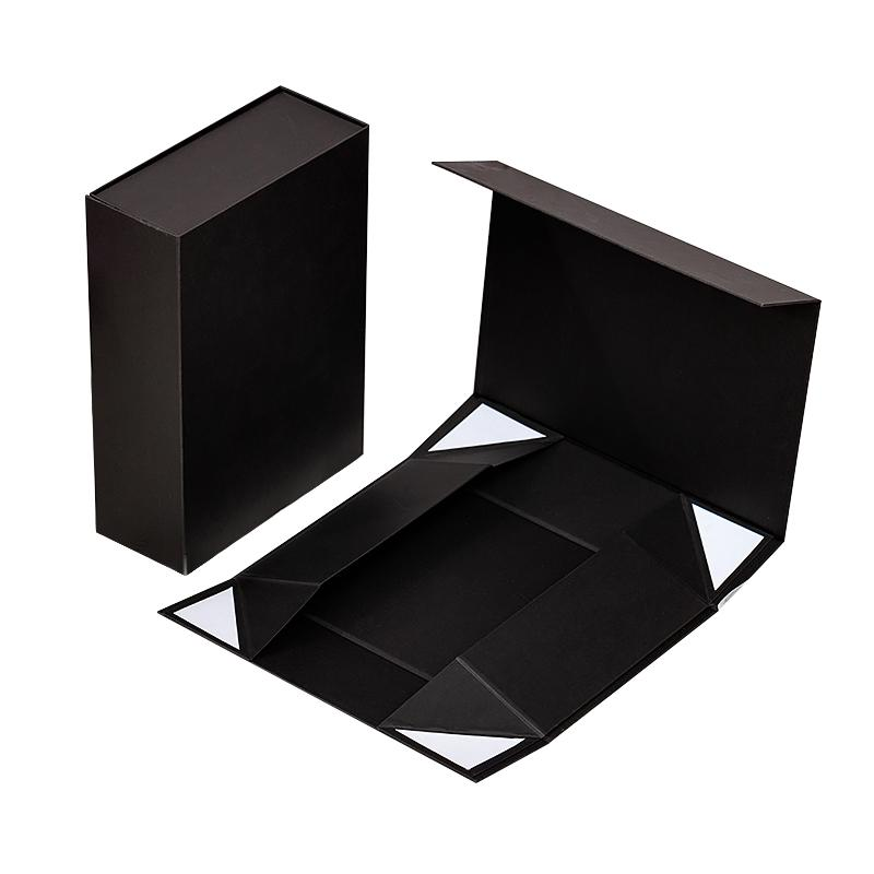 OEM جودة عالية المجوهرات زهرة سوداء مربع هدية مربع قابلة للطي الفاخرة