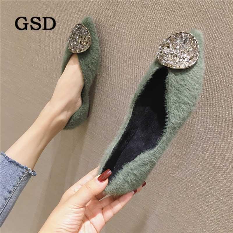 Botas Chrivals Fur Winter Sapatos Flat Mulher Quente Snow Senhoras Tornozelo Moda Moquasins Calçado