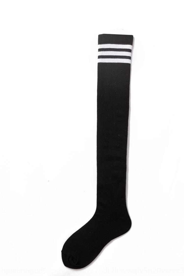 Tres de presión bar más de la rodilla Medias y calcetines medias de los calcetines de la pierna alta de tubo de las mujeres de la marca de moda de celebridades de Internet 3083