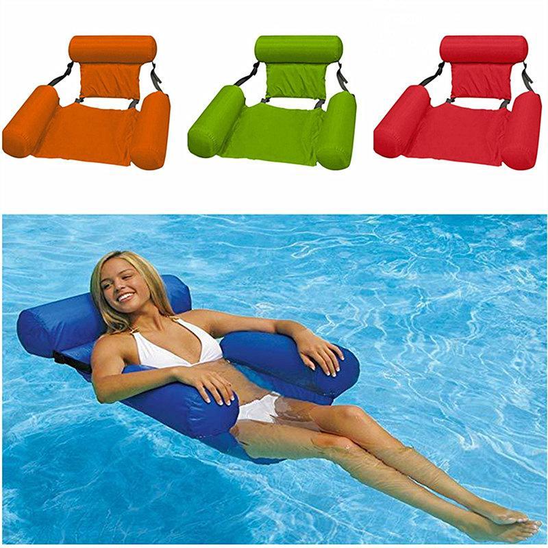 Mode Floating Stuhl Sommer Aufblasbare Faltbare Floating Row Beach Schwimmbad Wasser Hängematte Meer Fun Spiel Spielzeug Floating Beduhl 2020