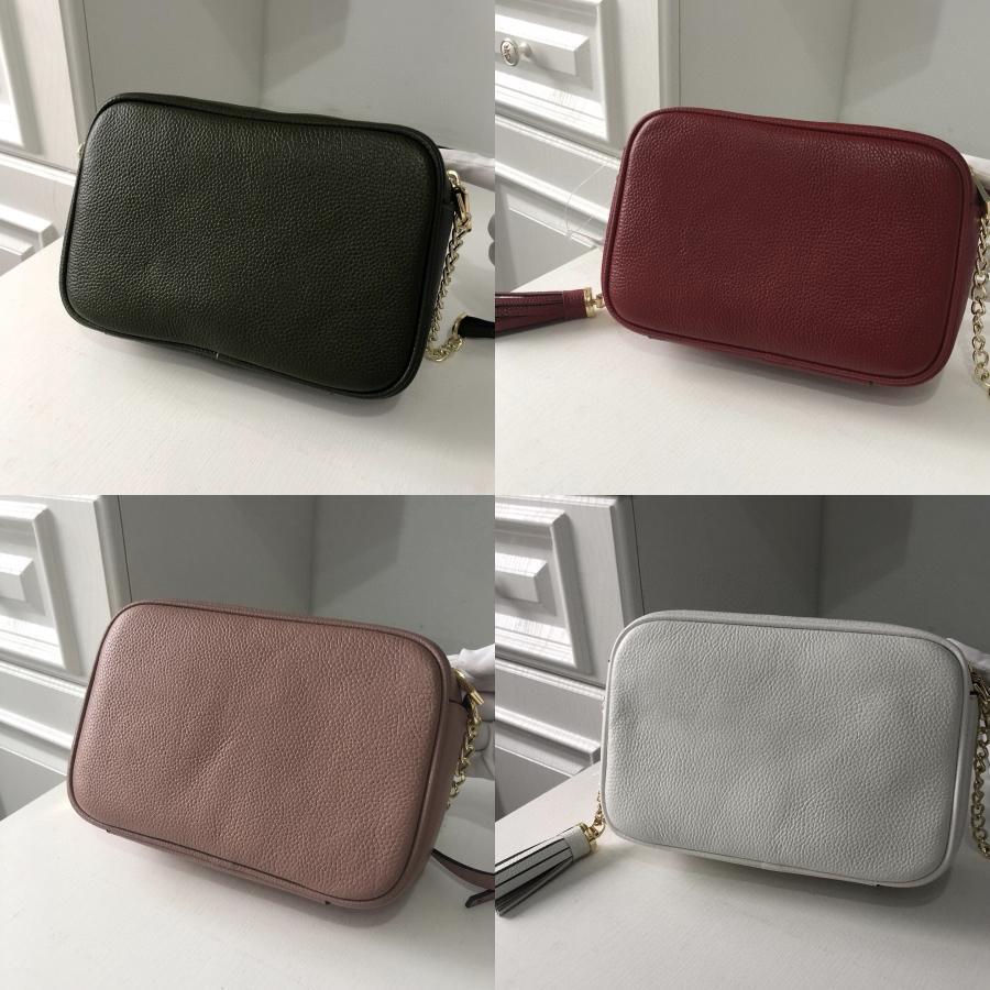 Solid Square Colore Crossbody Bag 2020 di cuoio nuovo di alta qualità della moda di borsa delle donne della catena della spalla Messenger Bag # 339