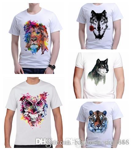 Мужская футболка Crew Nrck короткий рукав высокого качества Различные Beast животных Печать 3d печати Топы Тис Polos Повседневная рубашка размер S-2XL