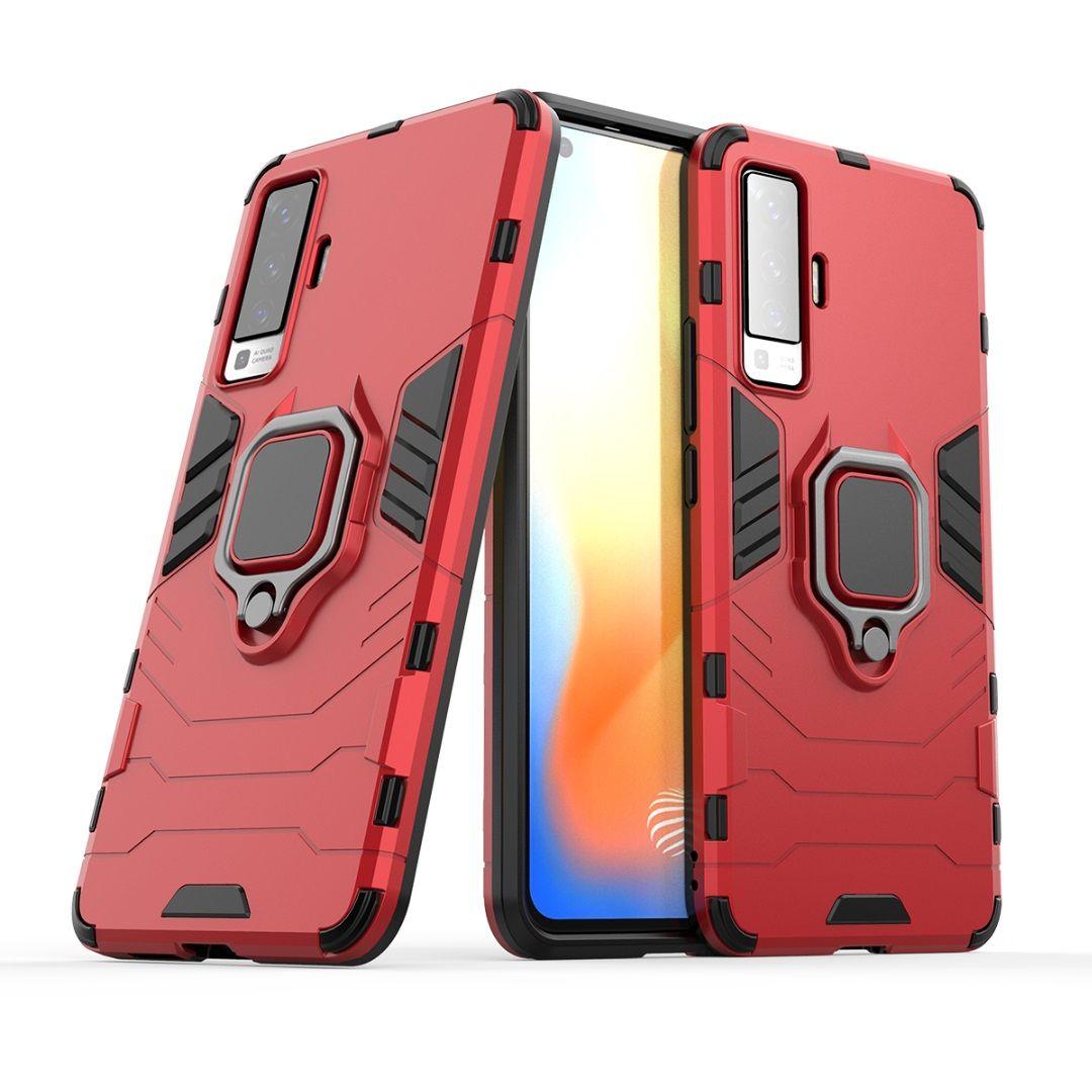 2 en 1 cajas del teléfono anillo armadura Híbridos Caso para Vivo X50 V19 V17 IQOO NEO S1 S5 Z6 NEX3 X30 PRO