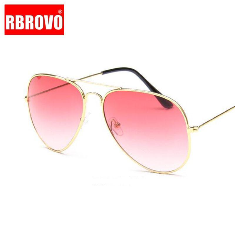 RBROVO 2020 Pilot Sunglasses Vintage Women / Men doces colorem luxo óculos de sol para as mulheres Outdoor Driving Óculos de Sol Mujer