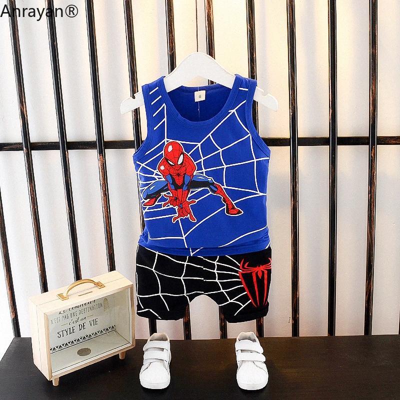 Sommer-Kind-Baby-Kleidung Baby-Karikatur-Muster-Weste Shorts 2pcs / set Kleinkind-Kleid-Kleidung-Kind beiläufige Tracksuits uPcz #