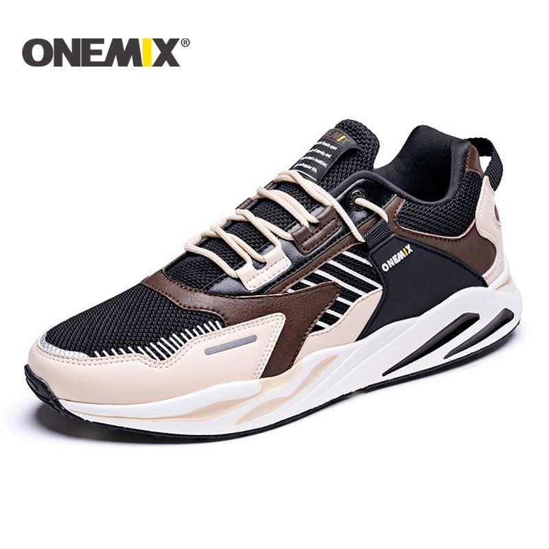 ONEMIX Yeni Erkekler Koşu Ayakkabıları Rahat Rahat Sneakers Erkek Açık Yürüyüş Ayakkabı Kadınlar Koşu Yürüyüş Spor