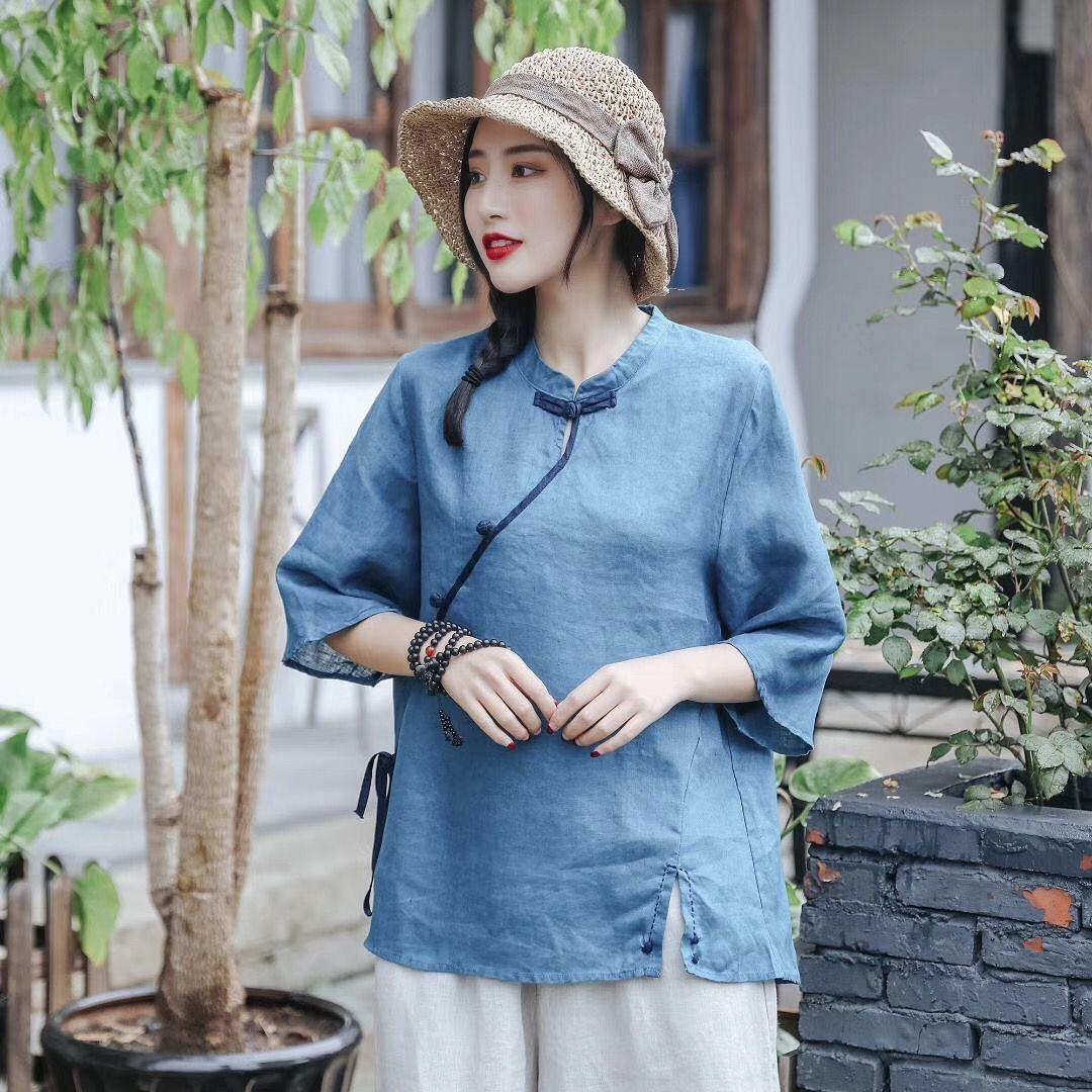 nuovo stile etnico breve fibbia Coat maglia della nazionale camicia casual donne cappotto estate di grandi dimensioni