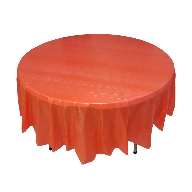 قطر 213cm اللون النقي جولة البلاستيك مفرش المائدة زفاف عيد ميلاد الحزب الجدول تغطية ديكور المنزل مستلزمات المتاح الجدول القماش