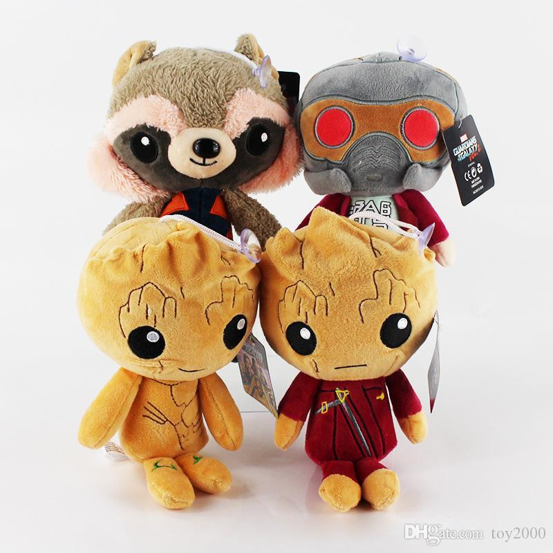 Guardians of the Galaxy Plush Toys 20cm Soft Stuffed Animals Groot Rocket Star-Lord Plush Dolls PP Cotton kids toys 5462