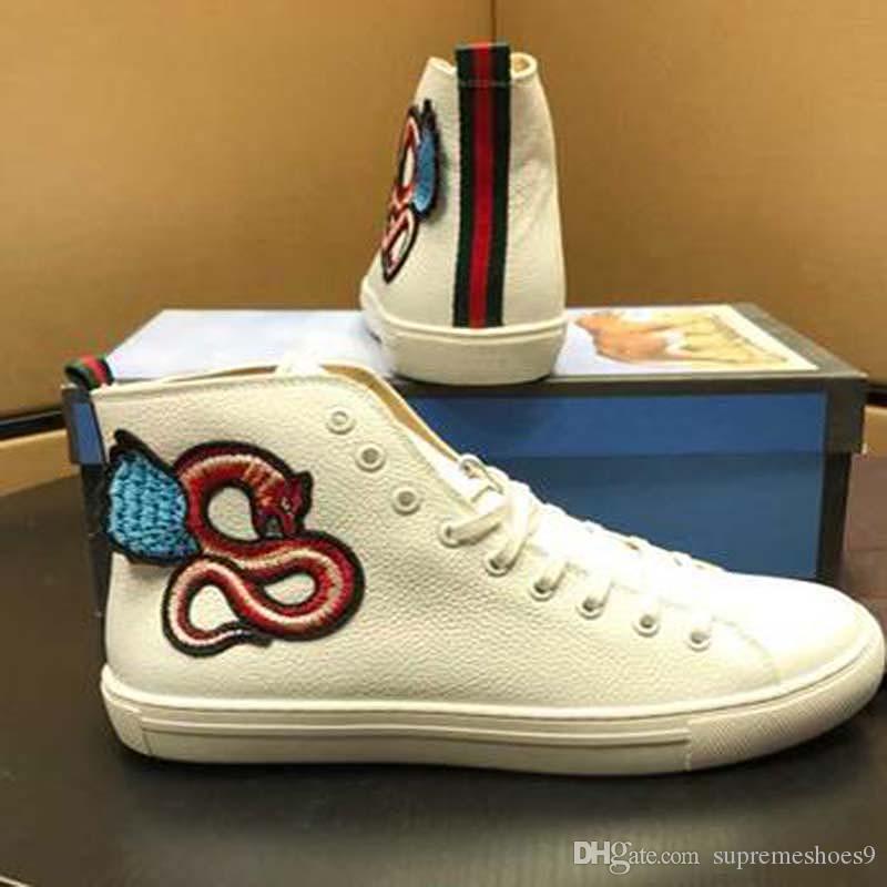 Sıcak Moda ünlü Erkekler Gerçek Deri Kafatası Hip Hop Erkekler Kadınlar Günlük Ayakkabılar Büyük Büyüklüğü 35-46 Ücretsiz Kargo C1r Ayakkabı